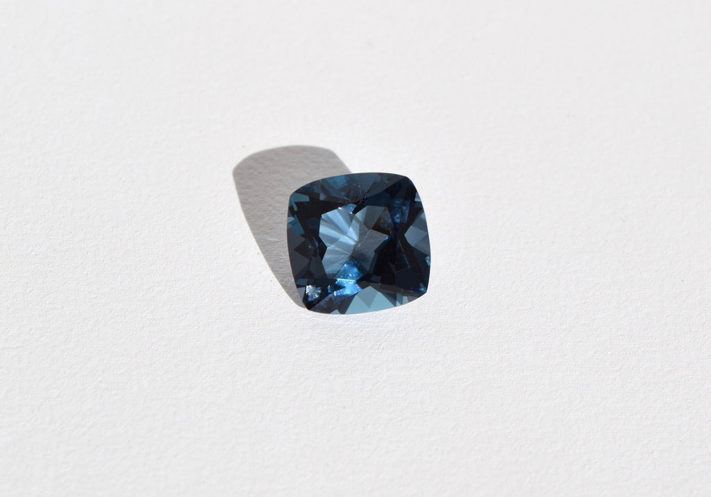 LONDON BLUE SQUARE CUSHION CUT TOPAZ