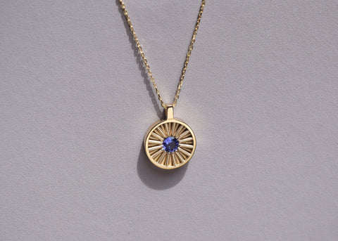 SUN NECKLACE L TANZANITE