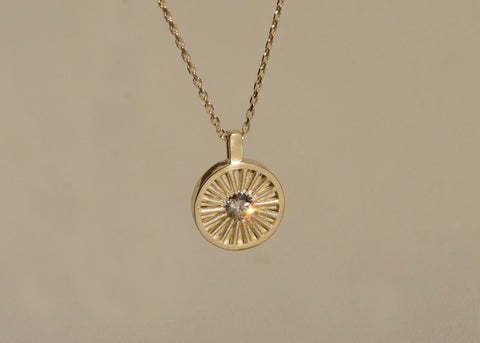 SUN CHAMPAGNE DIAMOND NECKLACE M