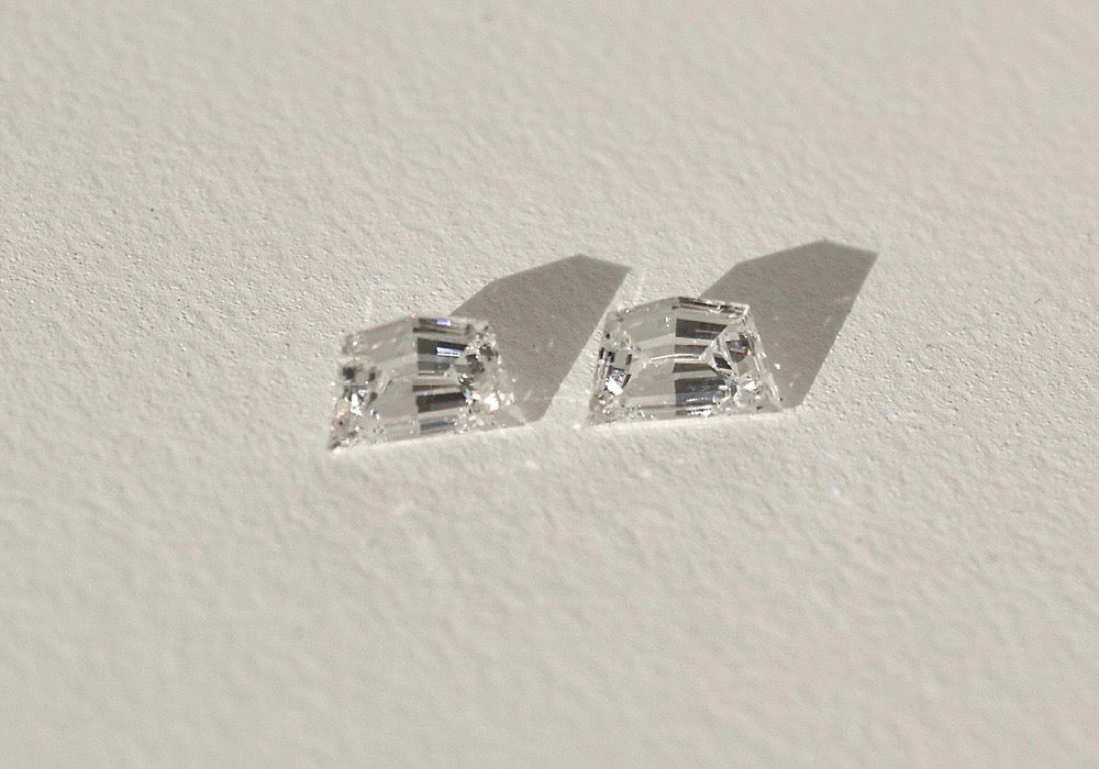 WHITE CADILLAC DIAMOND PAIR