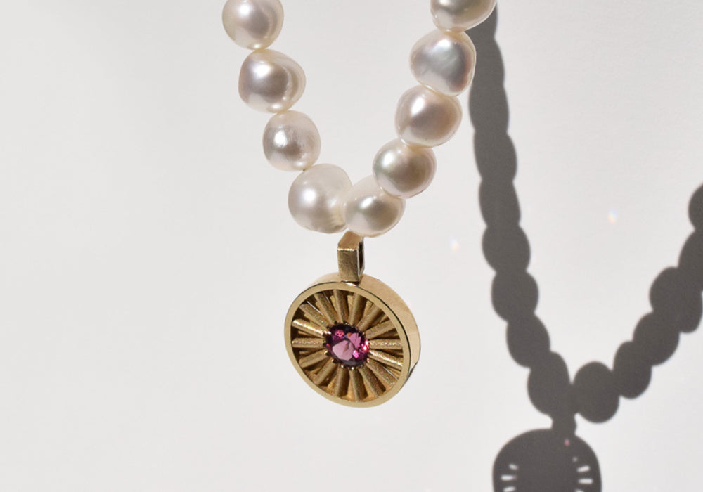 Pearl Sun Necklace