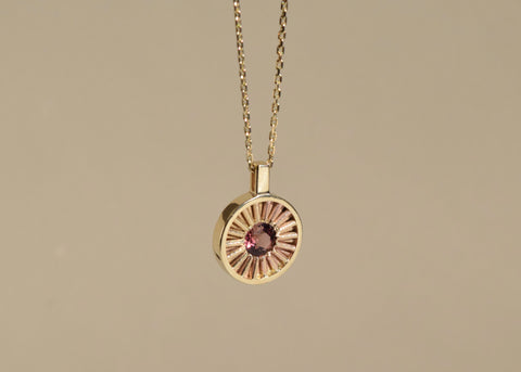 SUN TOURMALINE NECKLACE M