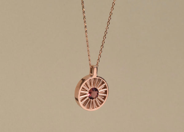 SUN TOURMALINE NECKLACE L