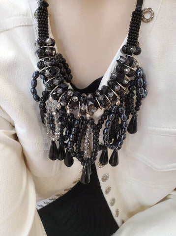 Diva Dangle of Multi -Bead & Stone Necklace