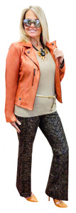 Pearlized Orange Sorbet Stretch Vegan Moto
