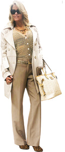 Cream Satin Iconic Trench
