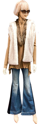 Faux Plush Polar Bear Fur Vest