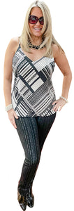 Reversible Silk Graphic/ Floral Cami Tunic