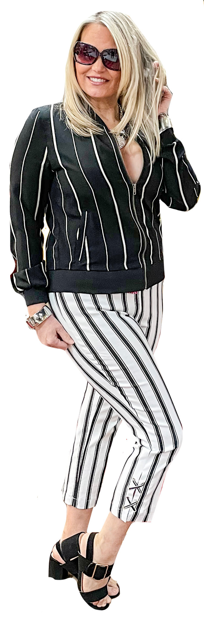 Techno Stretch Sporte Stripe Ankle Capri
