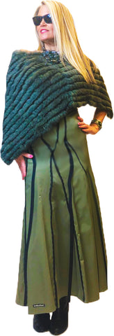 Forest Green Knit Rex Ponchito