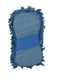Double Sided Chenille Blue Wash Sponge with Hand Strap