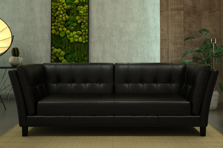 Prime Axton 3 Seater Black Andrewgaddart Wooden Chair Designs For Living Room Andrewgaddartcom