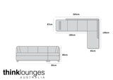 Black Lounge | Chaise Sofa | Alpha Black