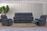 Archer 3 Seater Sofa with matching 2 Recliners
