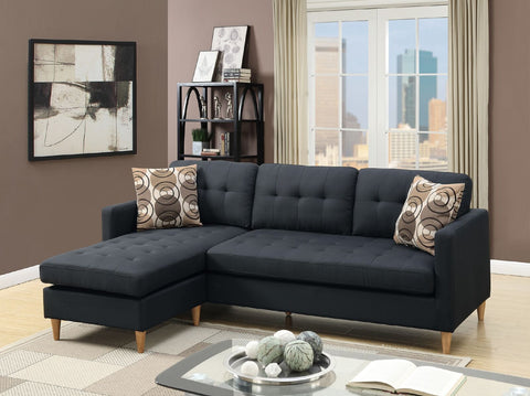 Charlie 3 Seater + Chaise ( Black )