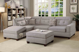 Fabric Lounge | Chaise Lounge | Arundel 3.5 Seater (Grey)