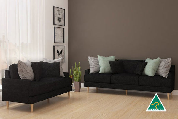 Adelyn 2 and 3 Seater - Black