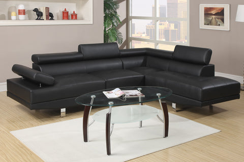 Alpha Chaise Sofa (Black)