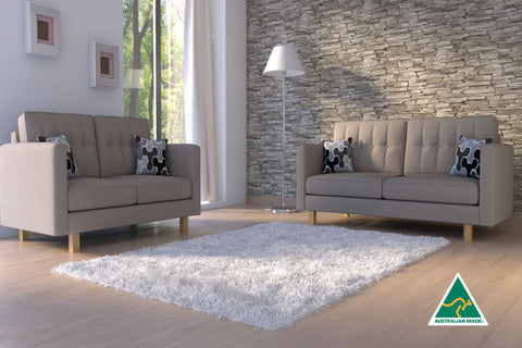 London 2 + 3 Seat Sofa Set (natural)