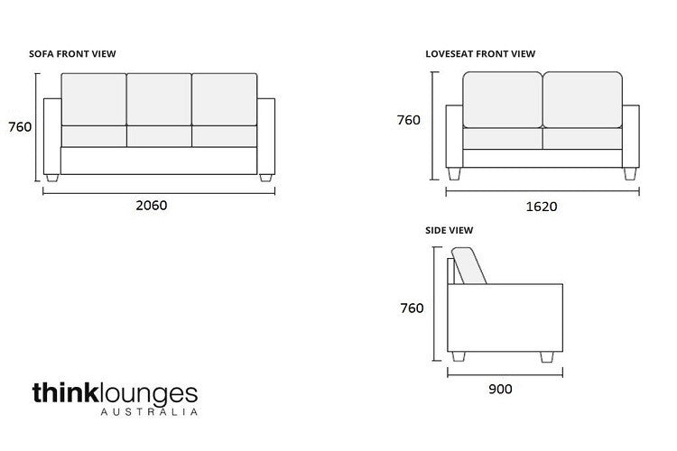 Fabric Sofa Lounge 2 3 Seater London Natural Think Lounges