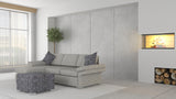 Wembley 2.5 + Chaise ( Ash Grey )