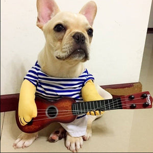 Guitar Player Cosplay Halloween Party Custome - For Cats and Dogs - Urban Pets
