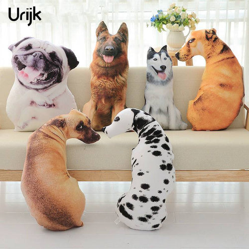 Realistic 3D Dog Pillows and Cushions - Urban Pets
