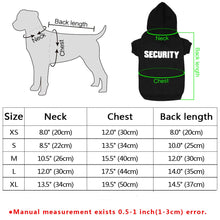 Load image into Gallery viewer, Dog Security Hoodie XS - XL - Urban Pets