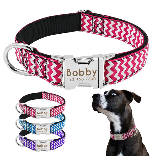 Zigzag Personalized Dog Collar - Urban Pets