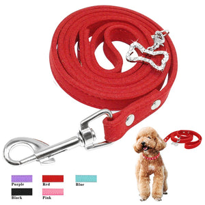 Suede Leather Dog Leash - Urban Pets