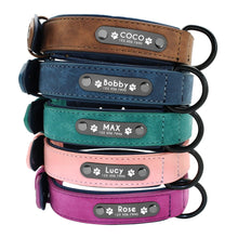 Load image into Gallery viewer, Leather Personalized Dog Collar - Urban Pets