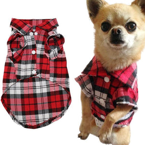 Dog Plaid Shirt - Urban Doggo