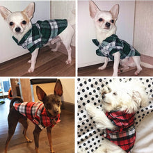Load image into Gallery viewer, Dog Plaid Shirt - Urban Doggo