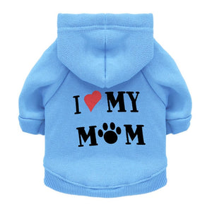 I Love my mom Dog Hoodie - Urban Pets