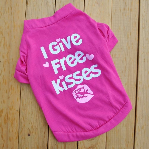 I give free kisses dog tee - Urban Doggo
