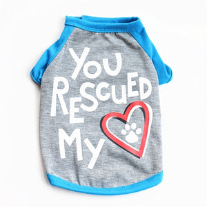 Rescued my heart dog tee - Urban Pets