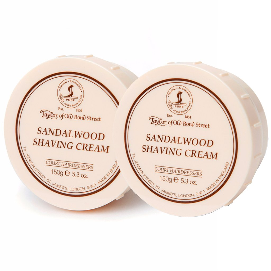 Sandalwood Shaving Cream Bowl 150g- 2Pack