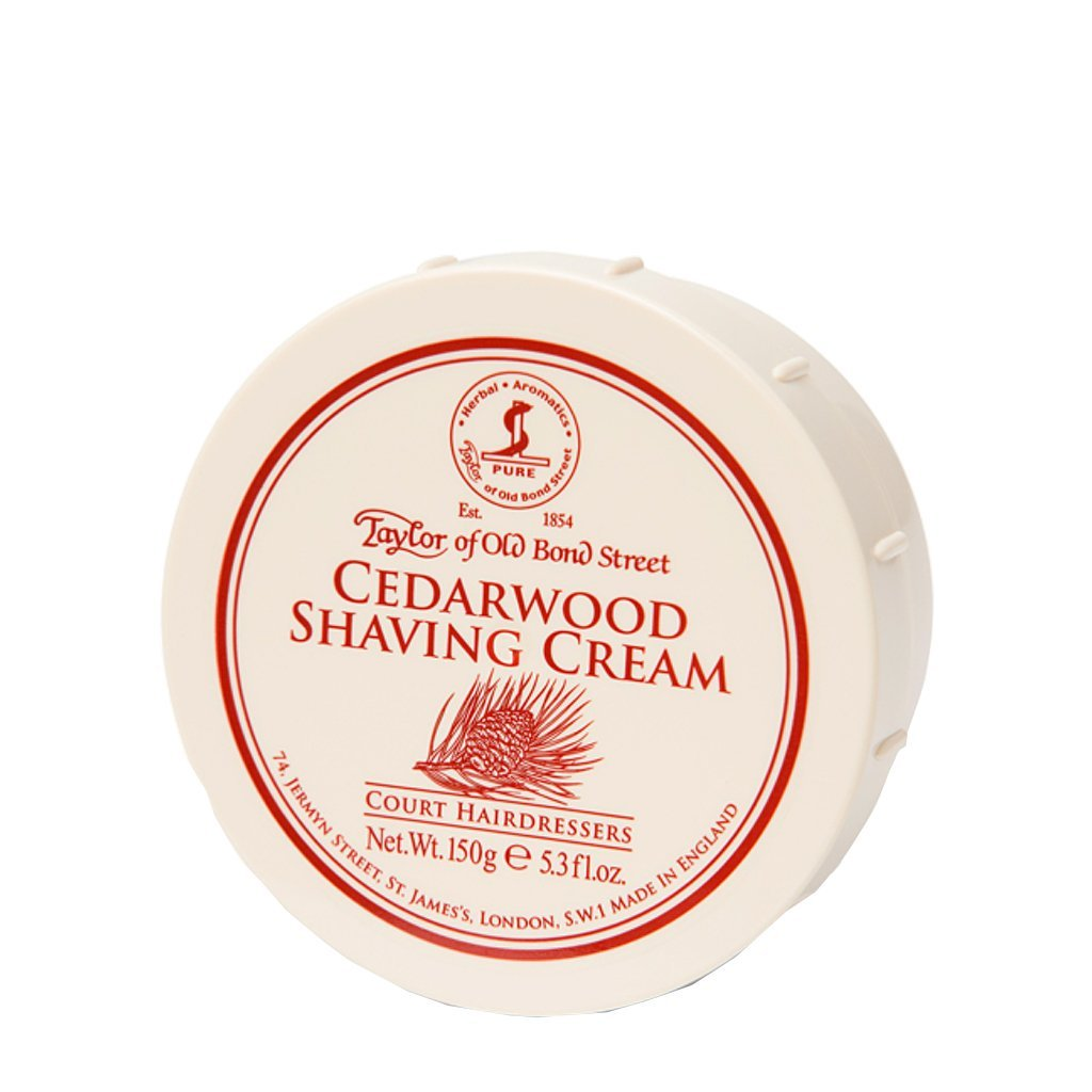 Cedarwood Shaving Cream Bowl 150g - BUYBARBER.COM