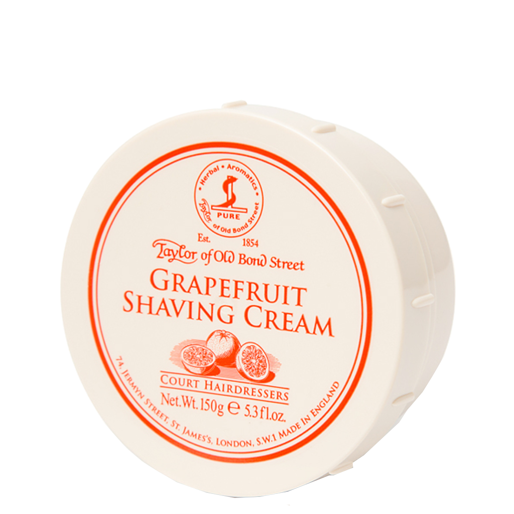 Grapefruit Shaving Cream Bowl 150g - BUYBARBER.COM