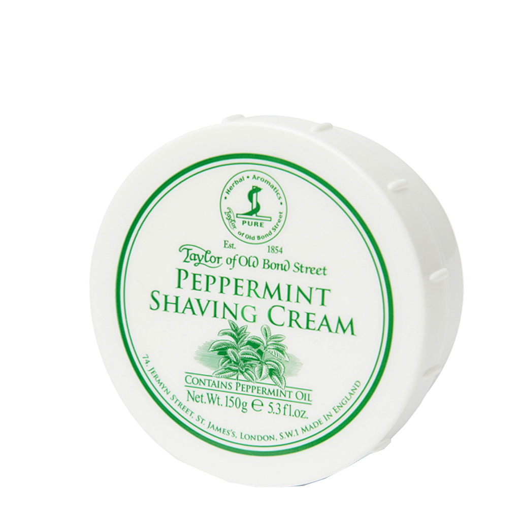Peppermint Shaving Cream Bowl 150g / 5.3oz - BUYBARBER.COM