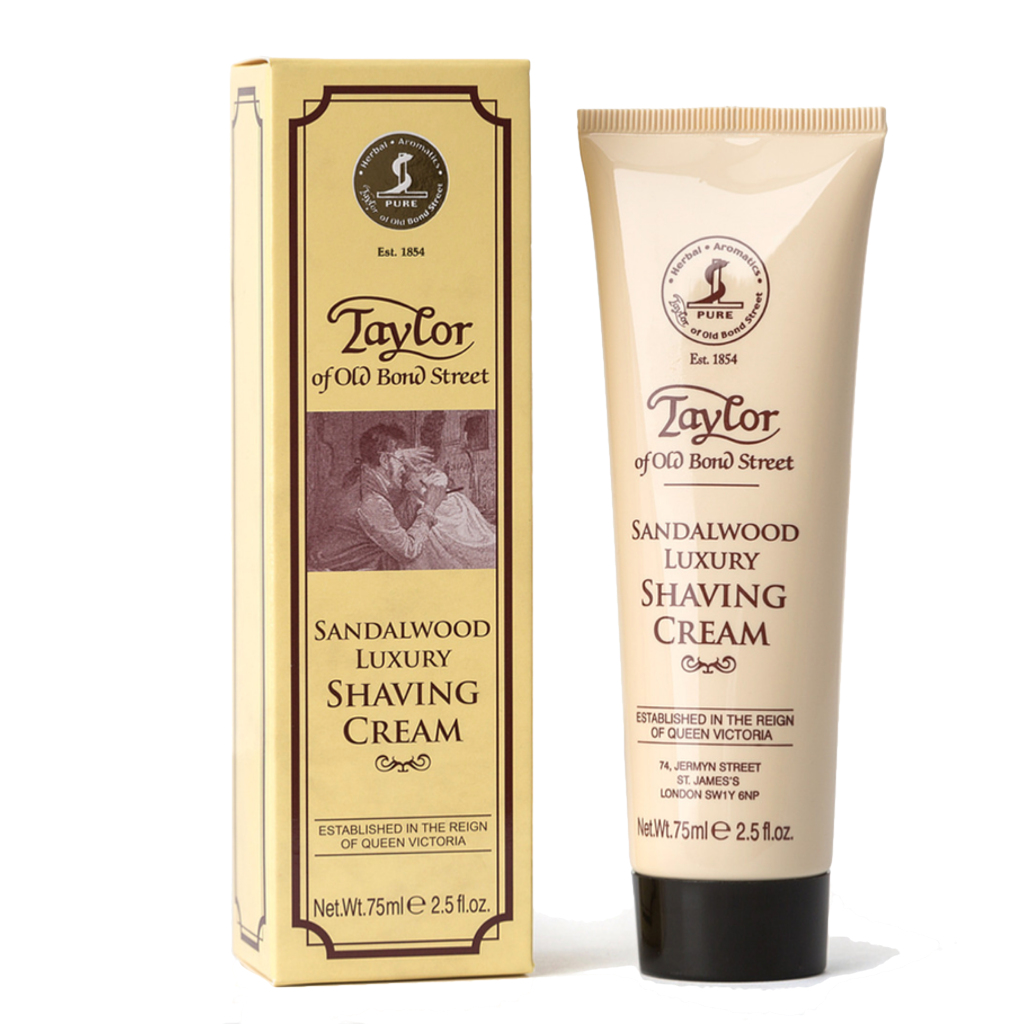 Sandalwood Luxury Shaving Cream Tube 75ml - BUYBARBER.COM