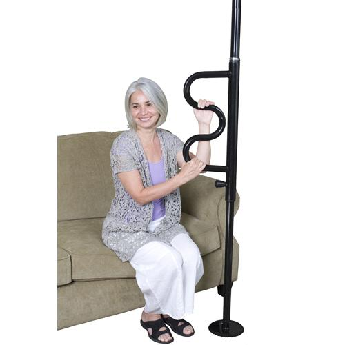 The Curve Security Pole Black