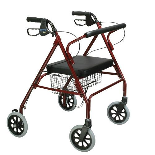 Rollator Oversize With Loop Bk Red Bariatric Steel(10215RD-1)