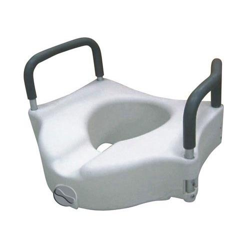 Raised Toilet Seat w/ Lock & Padded Removable Arms Retail