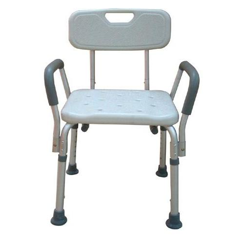 Bath Bench Adj Ht. w/Back-KD Remov. Padded Arms  (PMI)