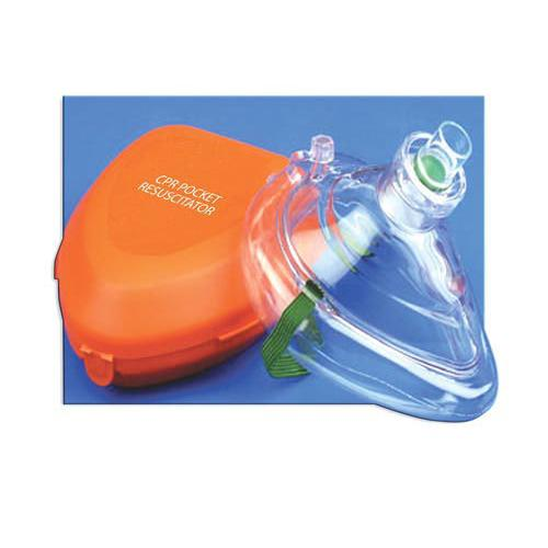 CPR Pocket Mask W/Hard Case & One-Way Valve & O2 Inlet