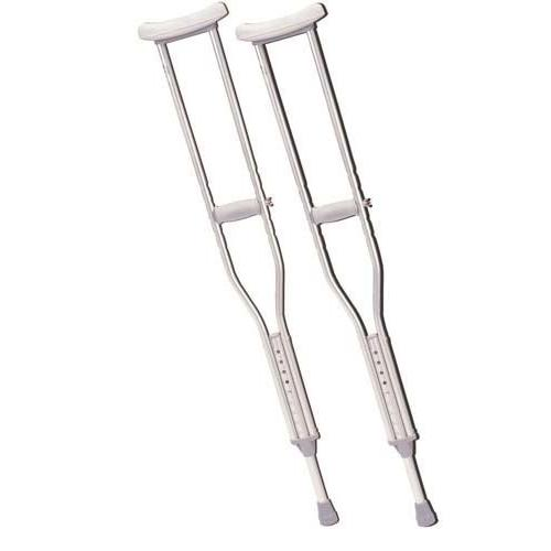 Push Button Alum Adj Crutch-pr Adult-Patient Height 5'2-5'10