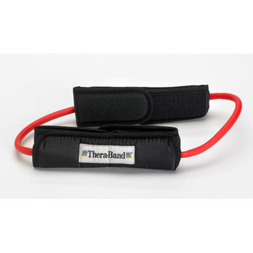 Theraband Prof Resist Tubing Loop w/Padded Cuffs Red