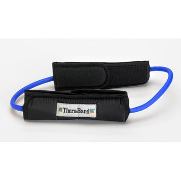 Theraband Prof Resist Tubing Loop w/Padded Cuffs  Blue