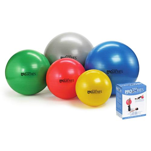 Pro-Series Exercise Ball Slow-Deflate Yellow 45cm.